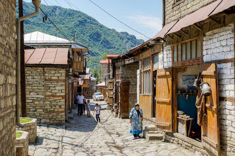 Winkeltjes in Lahic, Azerbeidzjan