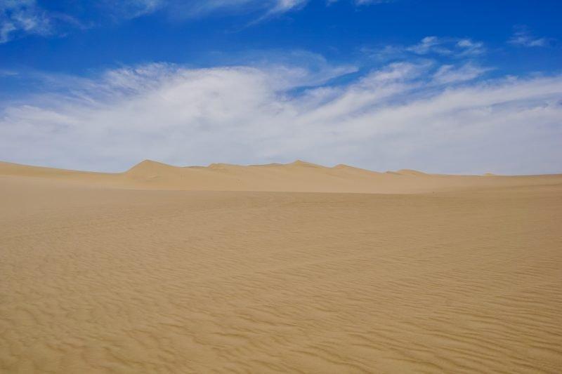 Zandvlakte in Huacachina bij Ica, Peru